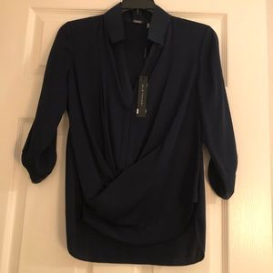 NWT Elie Tahiti Navy Blue Top